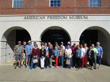 The group in front of the American Freedom Museum in Bullock