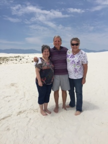 Ida, Les and Carol at White Sands National Monument