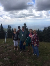 The group at the top (12,000 feet) of Ski Apache. Traveled last 2,000 feet in a gondola.