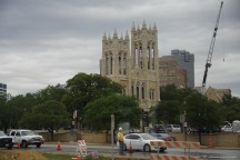 First United Methodist Church. And lots of construction equipment too